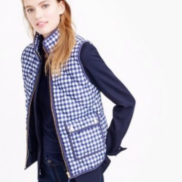 J. Crew Jackets & Blazers - J. Crew {retail} Gingham Excursion Vest